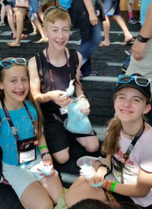 The Tongue-Twisting Turquoise Toucans Destination Imagination team at Global Finals 2015